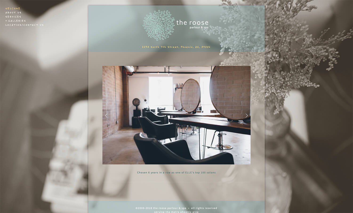 Home page for the old roose design